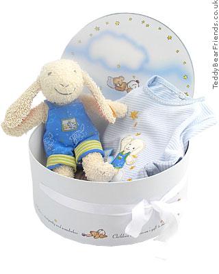 Steiff Baby Little Lamb Blue Gift Set