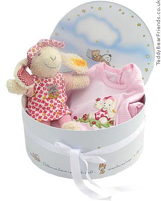 Steiff Baby Little Lamb Girls Gift Set