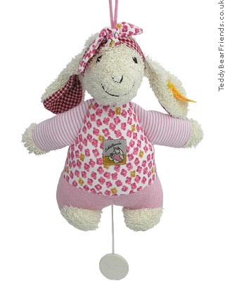 Steiff Baby Pink Lamb Musical