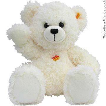 Steiff Lizzy Fluffy White Bear