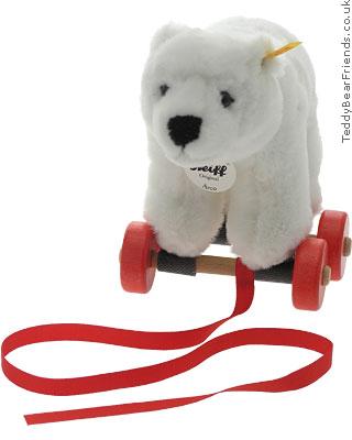 Steiff Polar Bear Pull Toy