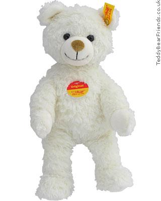 White Teddy Bear on White Teddy Bear   Steiff   Teddy Bear Friends