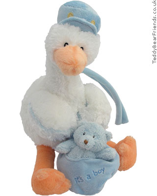 Baby Gund Stork and Baby Boy Musical