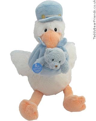 Baby Gund Stork And Baby Soft Toy