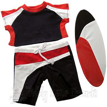 Teddy Bear Clothes Shop Surf Outfit For Teddy Bear