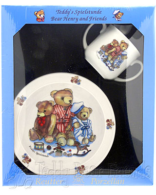 Reutter Porcelain Teddy Bear Baby Set