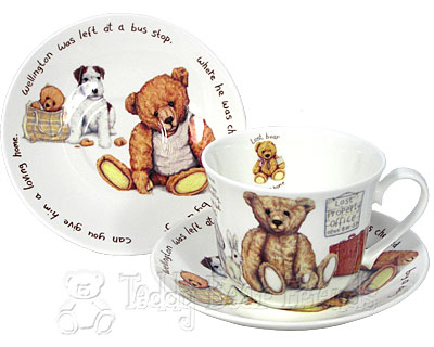 Roy Kirkham Lost Bears Breakfast Cup and Saucer