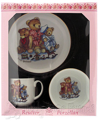 Reutter Porcelain Teddy Bear Breakfast Set