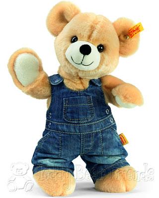 Steiff Teddy Bear In Dungarees