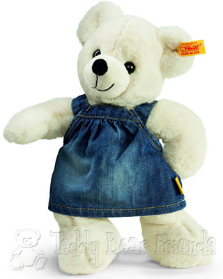 Steiff Teddy Bear In Jeans Dress