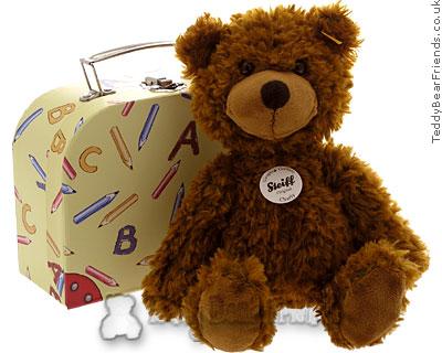 Steiff Teddy Bear in School Suitcase