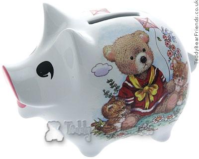 Reutter Porcelain Teddy Bear Piggybank