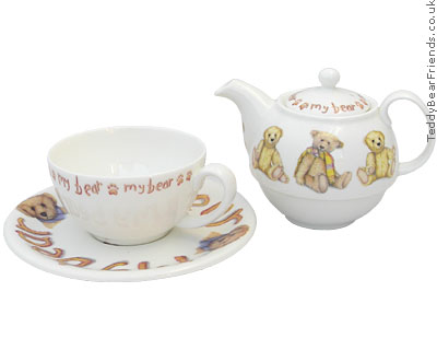 Roy Kirkham Teddy Bear Tea For One