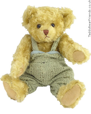 Teddy Hermann Jointed Bear in dungarees
