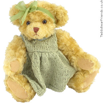 Teddy Hermann Jointed Bear in dress