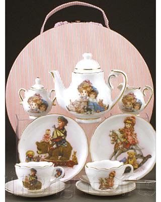 Reutter Porcelain Traditional Toys Miniature Teaset Hatbox