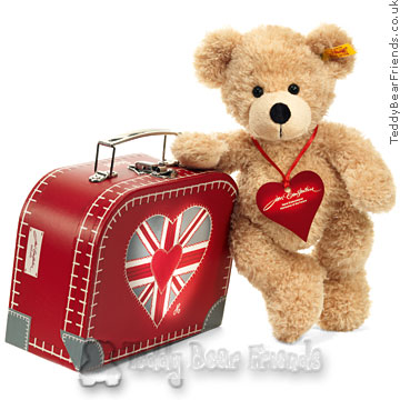 Steiff True Brit Teddy Bear Suitcase