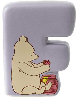 Border Fine Arts Winnie the Pooh Alphabet Letter F