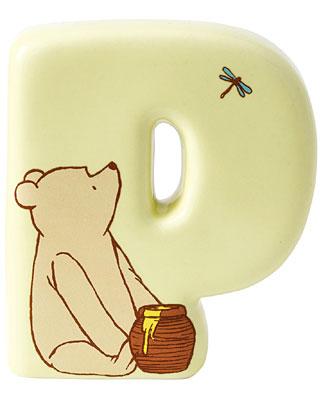 Border Fine Arts Winnie the Pooh Alphabet Letter P