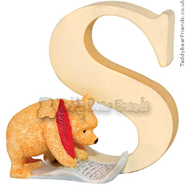 Border Fine Arts Winnie the Pooh Alphabet Letter S