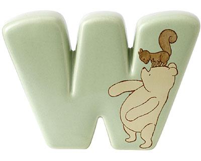 Border Fine Arts Winnie the Pooh Alphabet Letter W