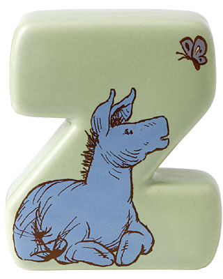 Border Fine Arts Winnie the Pooh Alphabet Letter Z
