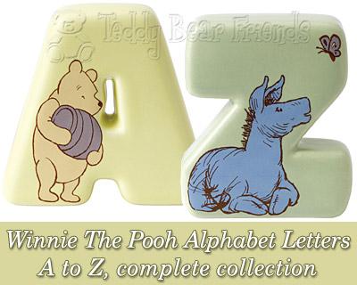 Border Fine Arts Winnie The Pooh Alphabet Letters Set
