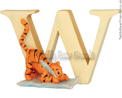 Border Fine Arts Winnie the Pooh Alphabet Letters W