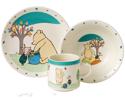 Border Fine Arts Winnie The Pooh and Piglet Nursery Set