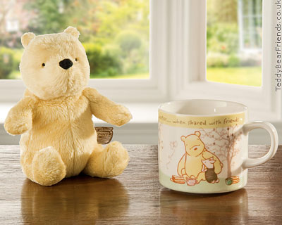 Border Fine Arts Winnie the Pooh Bear and Mug