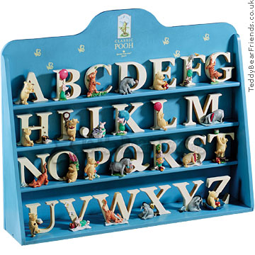 Border Fine Arts Winnie the Pooh Display Case Letter Set